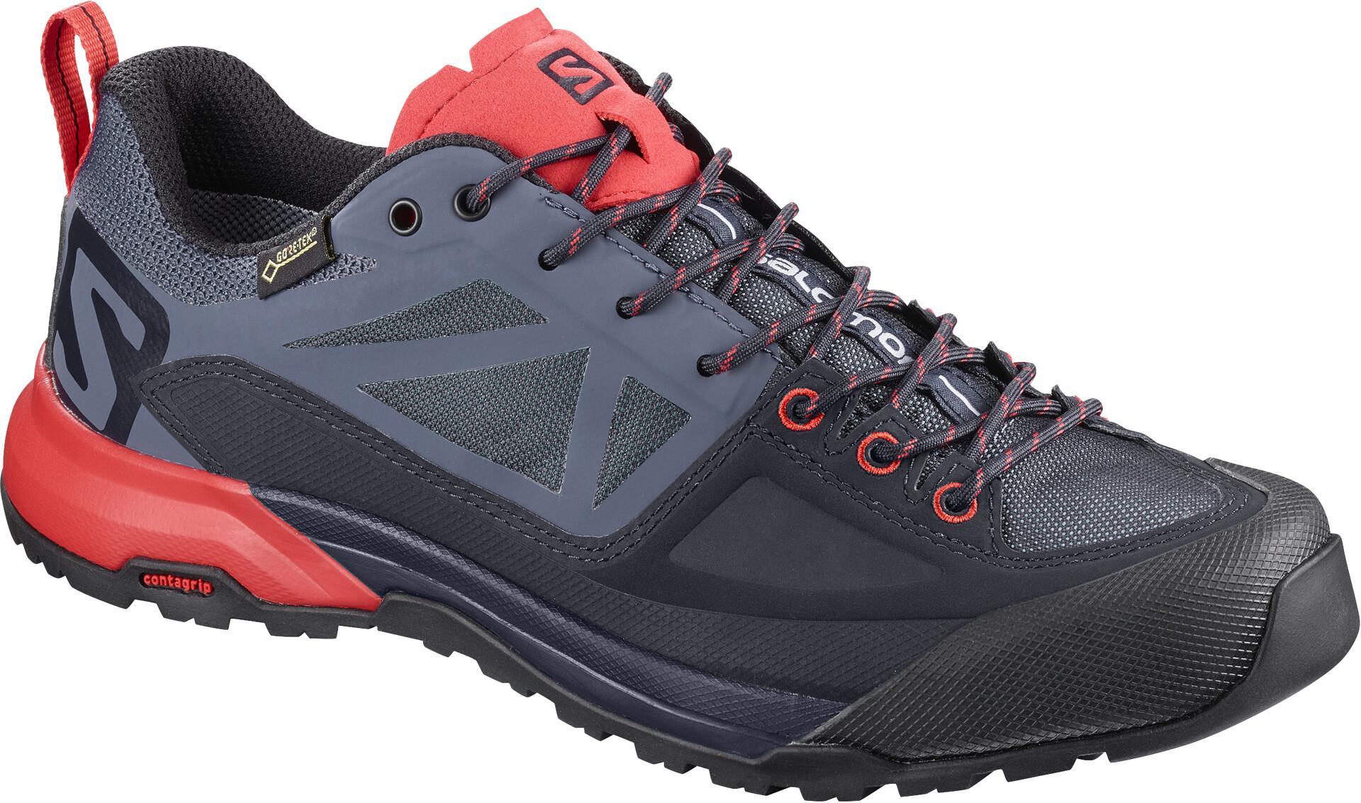 SALOMON X ALP Spry GTX Gray Green Approach Trekking Hiking